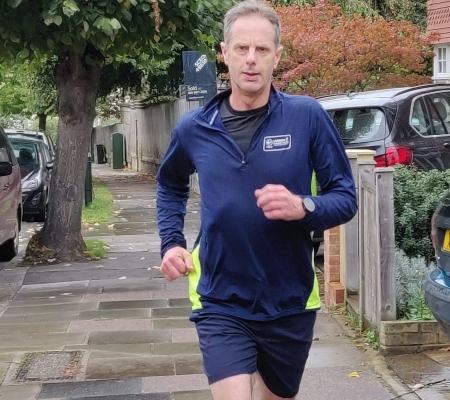 Robert Orr Ewing, training for half marathon 19th Oct 2019, Mortlake Community Association